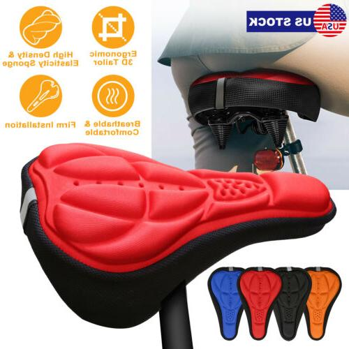 3D Silicone Gel Saddle Cushion Bike Gel Mountain Bicycle Roa