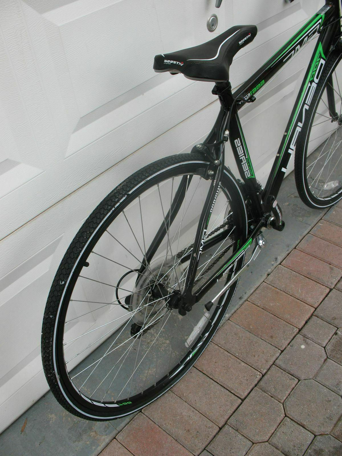 "GMC 19"" 700C ADULT DENALI ROAD BLACK/GREEN USED NEED PEDALS"