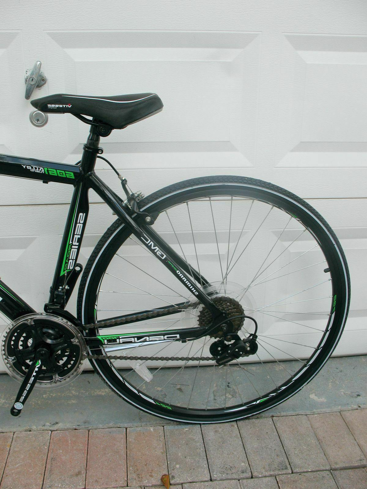 "GMC 19"" ADULT ROAD BIKE BLACK/GREEN NEVER USED NEED PEDALS"