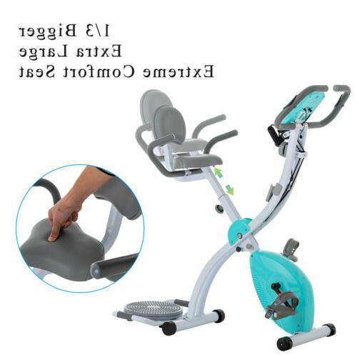 Foldable Stationary Upright Exercise Bike Cardio Workout Cyc