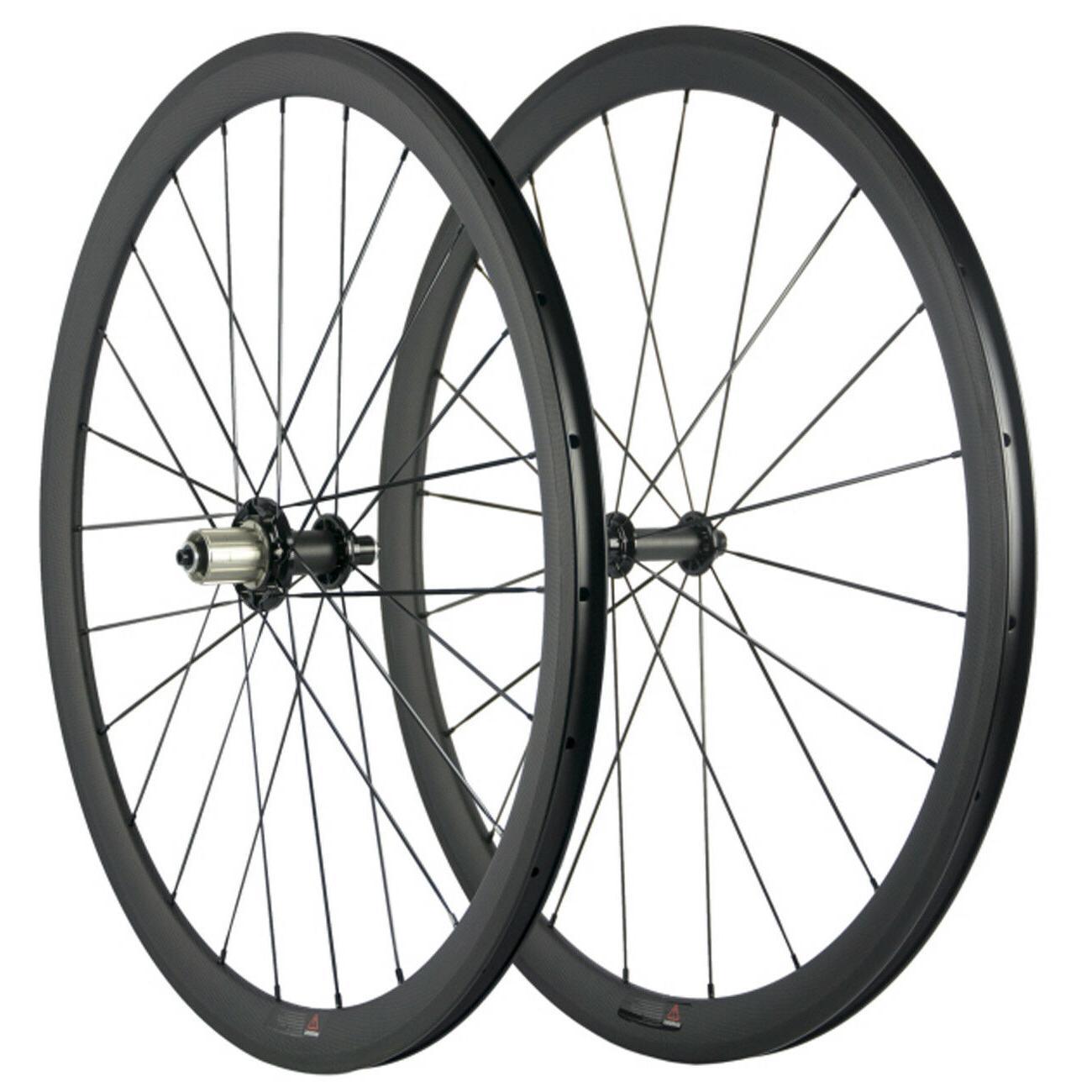 700C Clincher Carbon Fiber Wheels 38mm Wheel R51 Carbon Hub