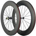700C 88mm Clincher Carbon Fiber Wheels Bike Wheels Front & R