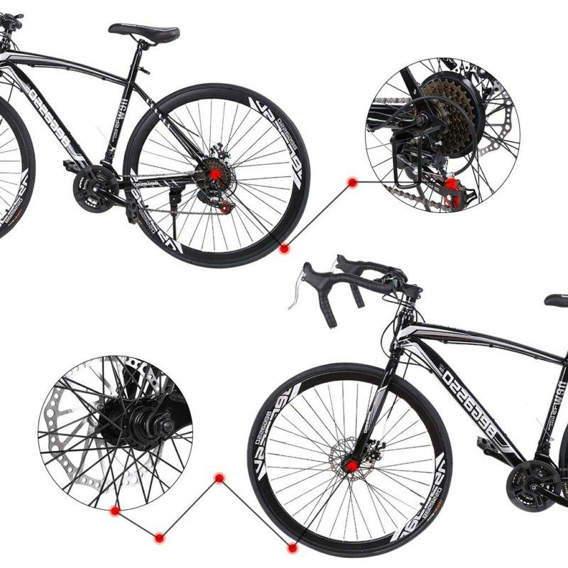 Road Bike Speed 700C Bikes 54cm Daul Disc Brakes