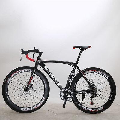 "26"" Men's Cruiser Road Bike white 21 Speed Shimano Monocoque"
