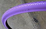 Duro 700X25C Colored Tire - PURPLE, For 700C Wheels of Fixie