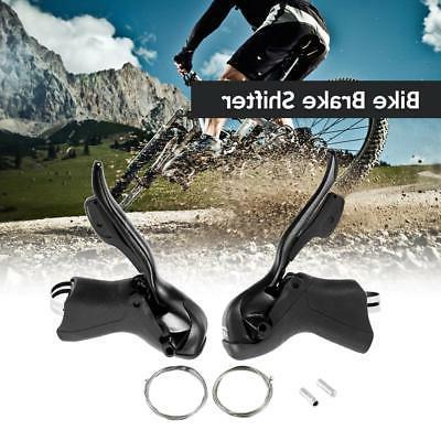 7S/8S/9S/10S Speed Road Bike Shifter Brake Lever Front Rear