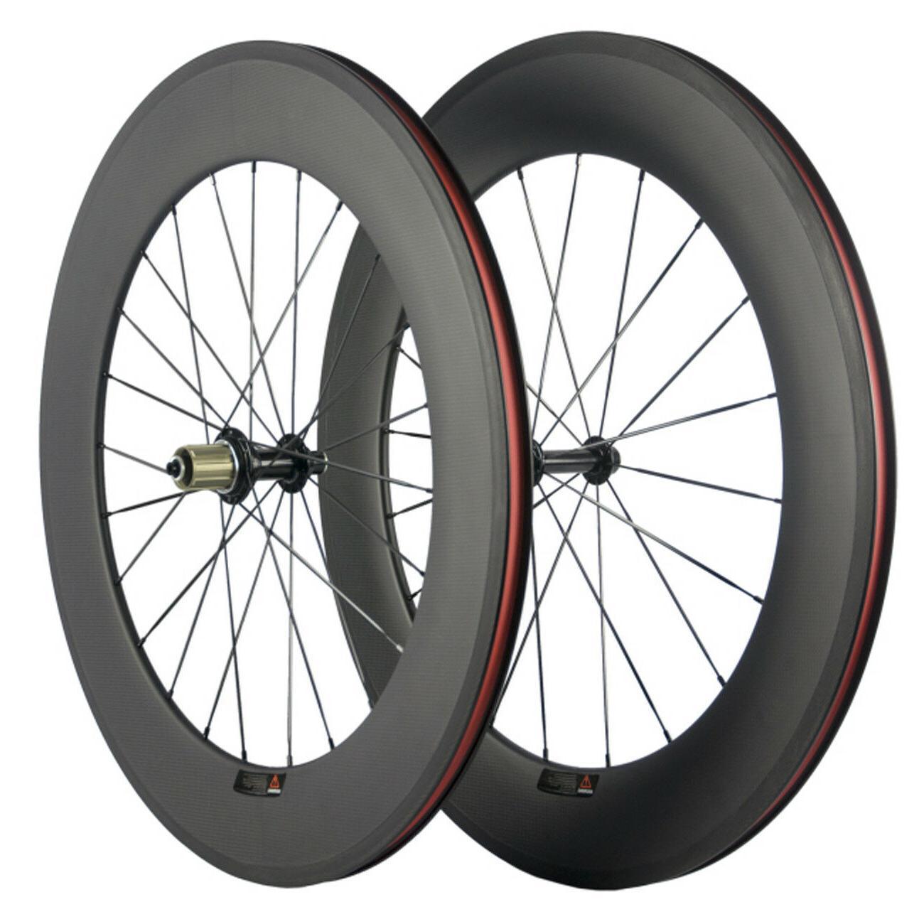 88mm Carbon Wheelset Clinhcer Road Bike Carbon Fiber Front /