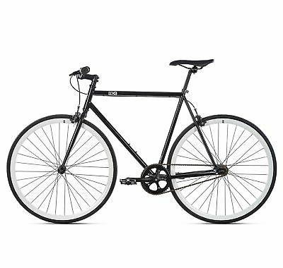 6KU Single Road Bike, Black/White