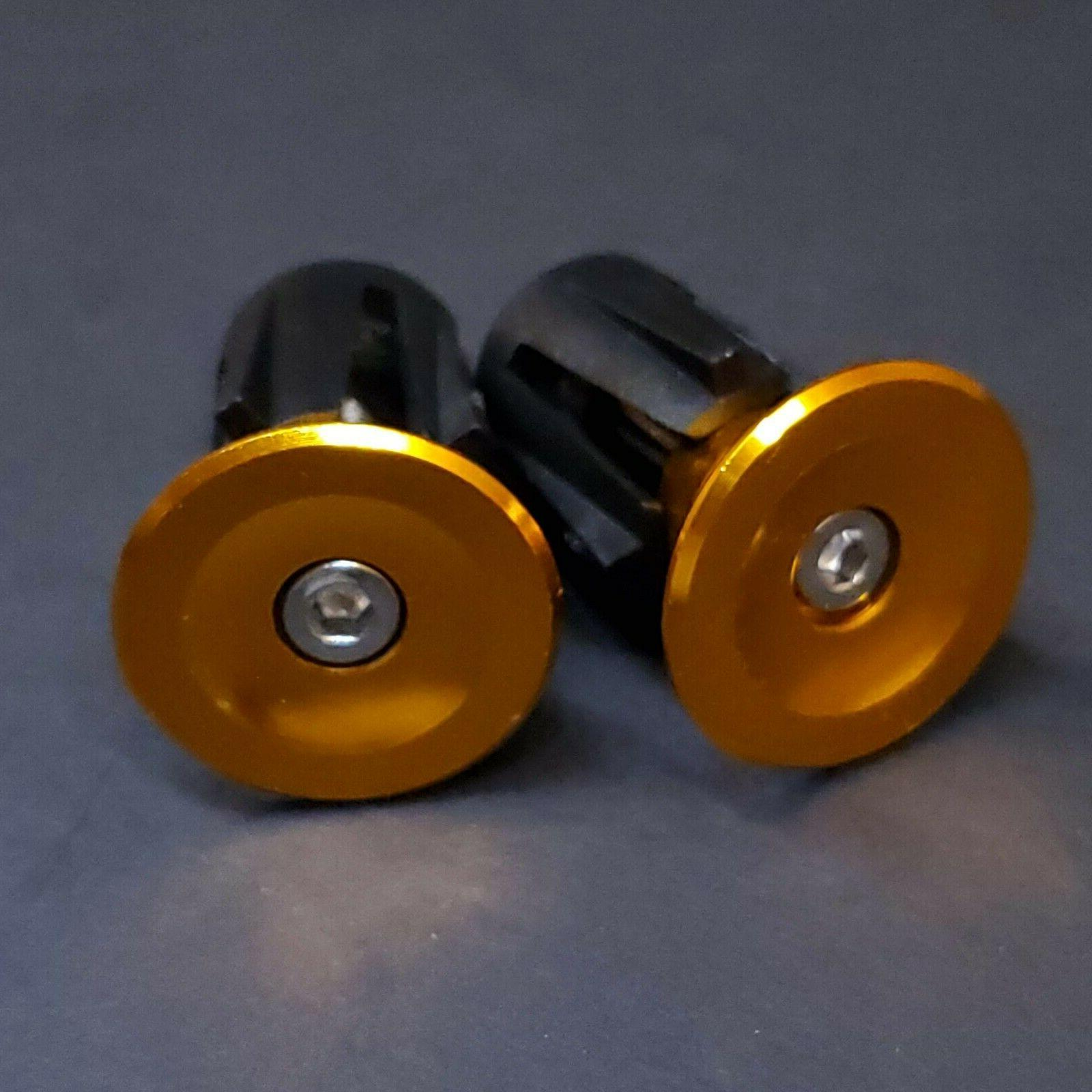 💥 Aluminum Handlebar Bar End Caps Drop 7 Colors
