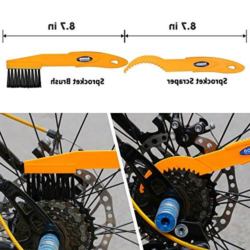 SINGARE Bicycle Cleaning Tools Set, Brush Kit Suitable Road, City, Hybrid, Folding Bike