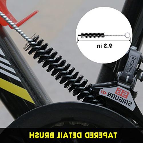 SINGARE Cleaning Tools Bicycle Brush Kit Mountain, Road, City, Hybrid, BMX Folding