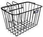 Adie Bicycle Front Wire Basket in Black Standard With Metal