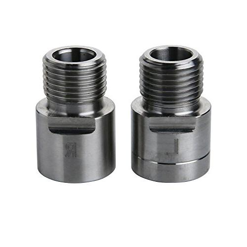 """15mm Extension Stainless Steel Aolvo Bike Pedal Extenders 9//16/"""" Universal Fit"""
