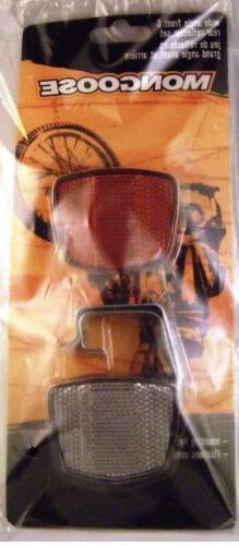 Mongoose Bike Reflector Set-Front & Back New