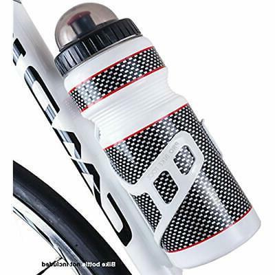 Bike Water Bottle Black Or White Secure No Lost