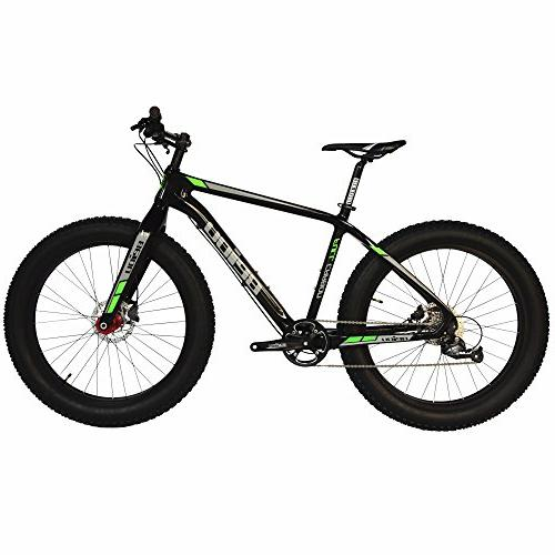 """BEIOU Full Carbon Fat Tire Bicycle Fat Bike 26"""" 4.5"""" Tire SH"""