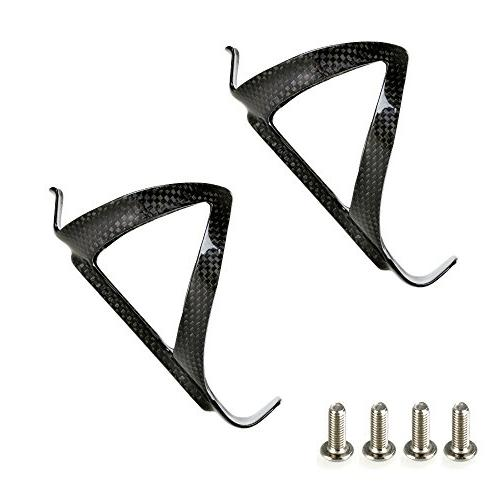 PERGEAR Black Carbon Fiber Lightweight Bottle Cage for - Pack