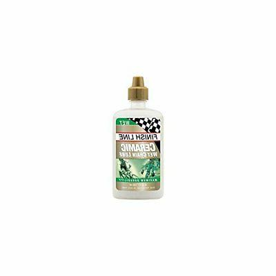 Finish Line Ceramic WET Bicycle Chain Lube, 4-Ounce Drip Squ