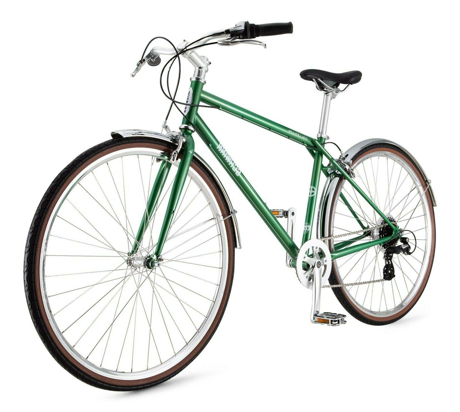 collegiate urban hybrid mens bike 700c anniversary