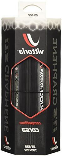 Vittoria Corsa G+ Graphene Road Tire, Anthracite/Black, 700x