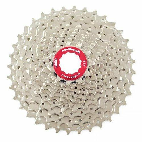 Sunrace CSRX1 11 Speed Road Bike Cassette 11-36T , Silver