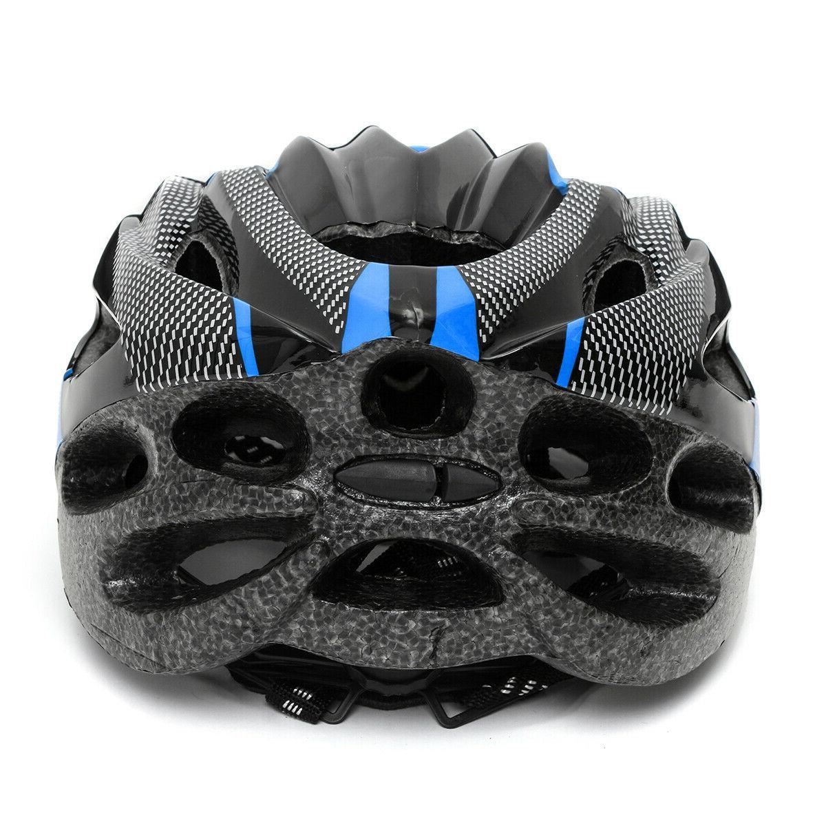 Cycling Adult Mens Bike Helmet Red Carbon Color Visor Mountain USA