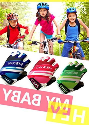 FINGER Kids Gloves Youth, Outdoor Road Mountain Bike, Bicycle Half
