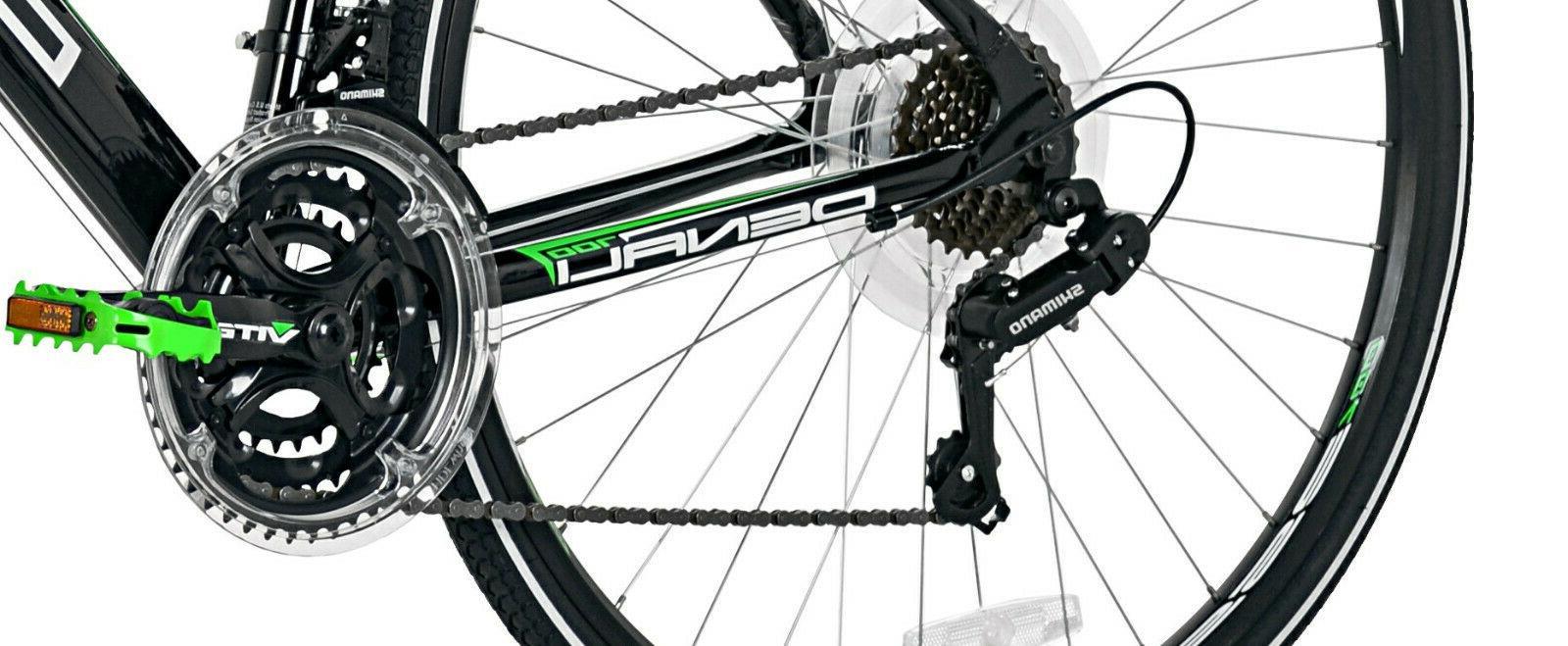 GMC Aluminum Adult Road Bike Black Green Speed Shimano