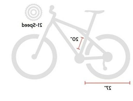 GMC 21-Speed Bike, Black/Green, 20-Inch/Small, High Performance Tire