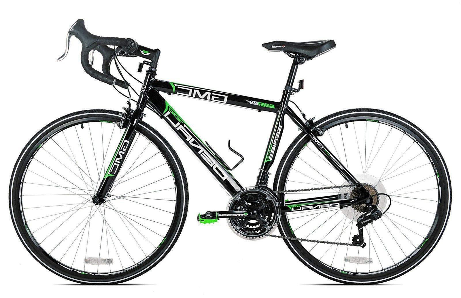 GMC Denali Road Bike, Black/Green, 20-Inch/Small, Performance Tire