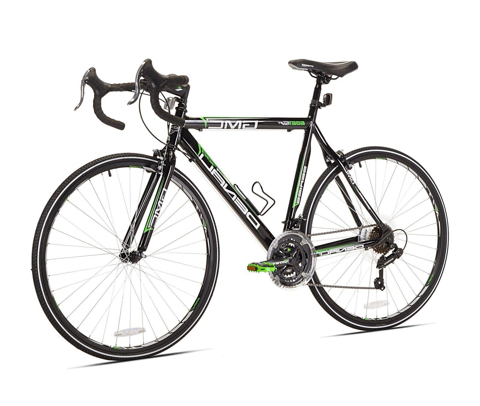 GMC Denali 21-Speed Road Bike, Black/Green, 20-Inch/Small, H