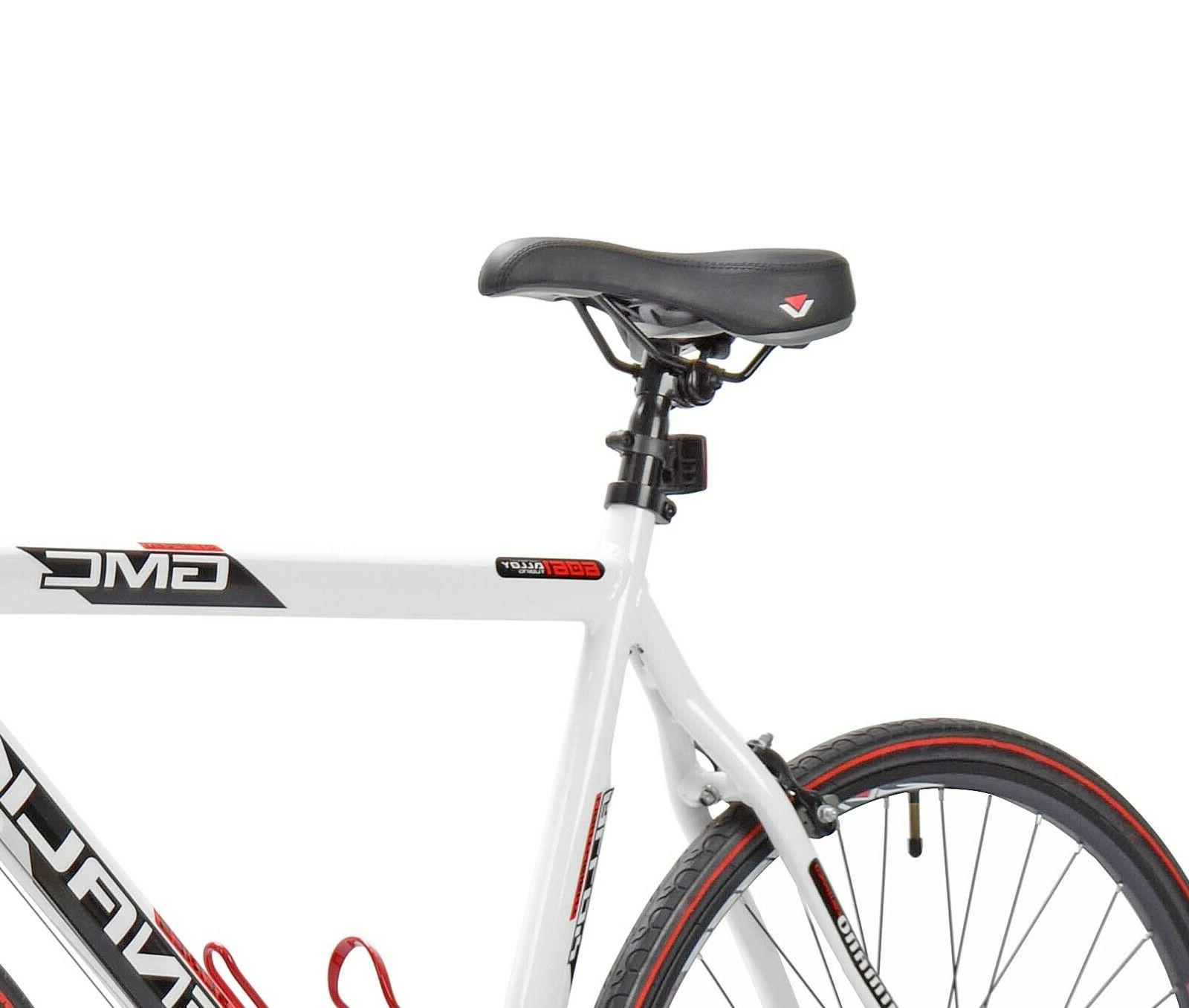 22.5' GMC Denali 700cc Men's Bike, White/Red