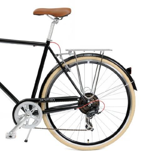 Critical 7-Speed Commuter Road Bicycle, Black, Small/50cm