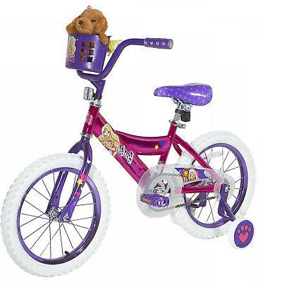 "Dynacraft Barbie 16"" Girls' Bike Pink And Purple"