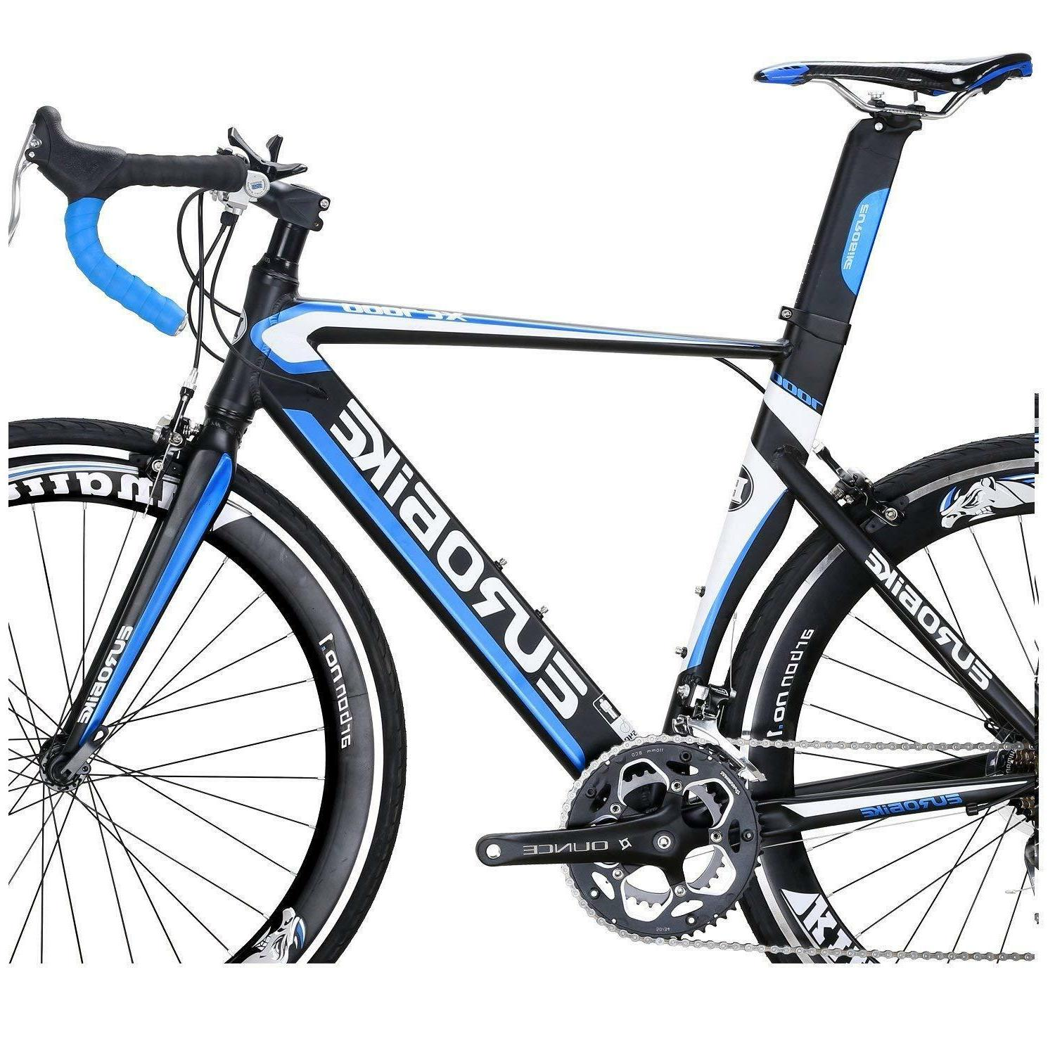 EUROBIKE 54CM Light Aluminum Frame Road 14 700C Racing Bicycle