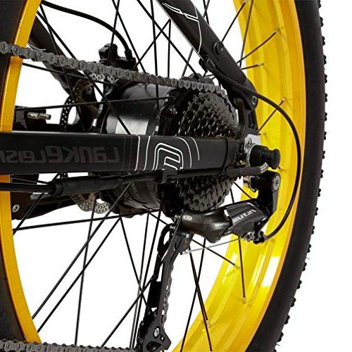 LANKELEISI Fat Folding Electric Bicycle Shimano 27 Speed 48V Snow Mountain LCD Disc Brake