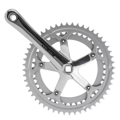Sunrace FC-R33 Road Bike Double 7-Speed JIS Crankset Silver
