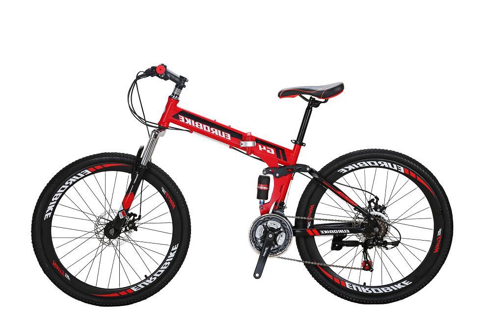 "Eurobike 26"" Folding Mountain Bike 21 speed Full suspension"