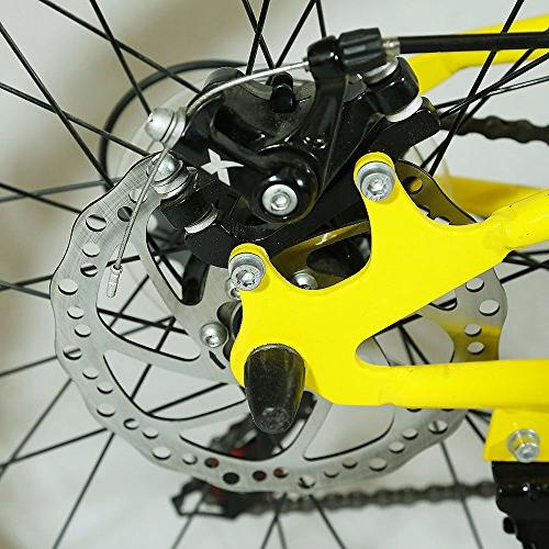 "Xspec 26"" Speed Folding Mountain Trail Shimano Yellow"