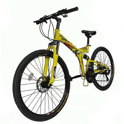 folding mountain bike bicycle trail