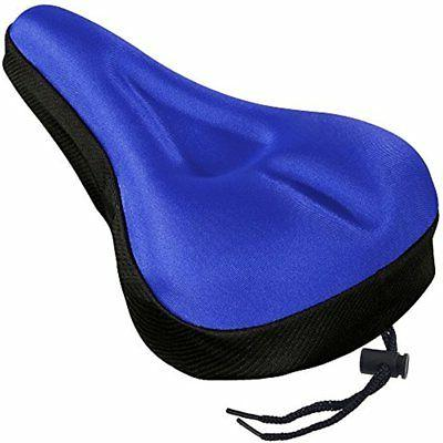 Gel Bike Seat, Extra Soft Bicycle Saddle Cushion With Black