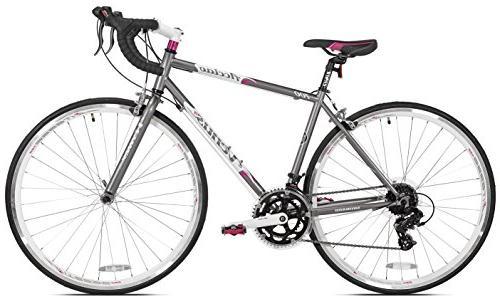 Giordano Venus Women's Road Bike, Grey/White/Pink, Small