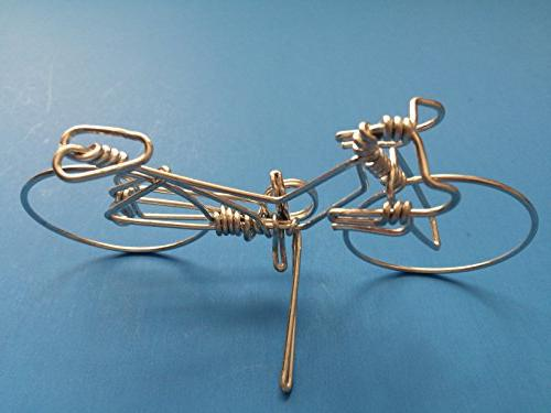 Handcrafted Cyclists as Cake ~ with Whole Wire No Single Break