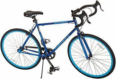 hf6 kabuto single speed road bike blue
