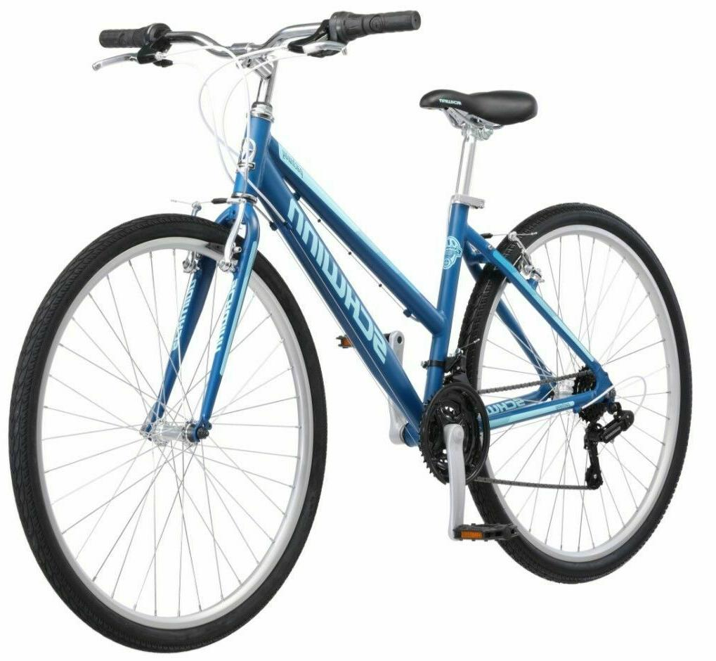 Schwinn Hybrid Bike Blue 700C Women's Cruiser Alloy Frame Sp