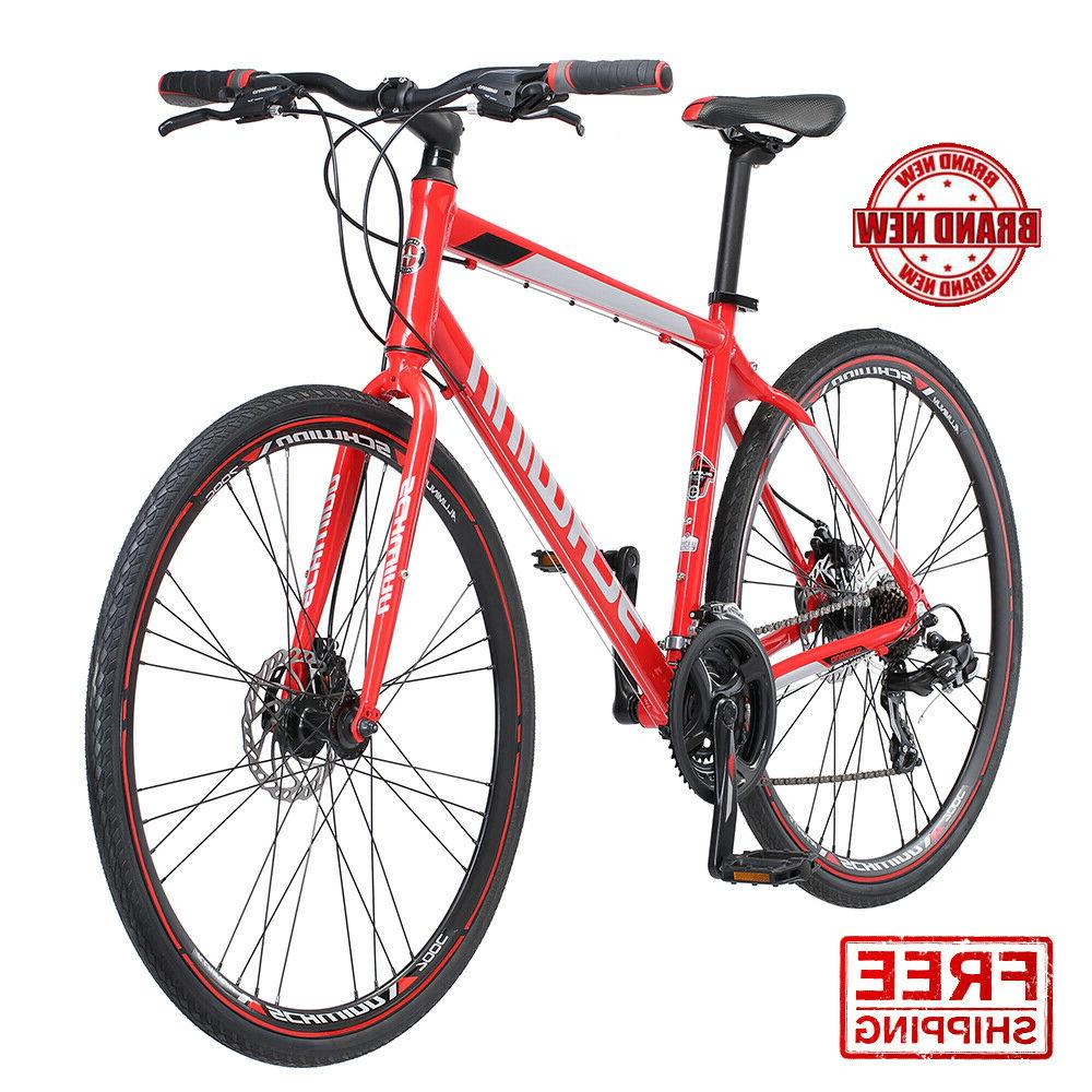 hybrid mens mountain bike 700c kempo 21