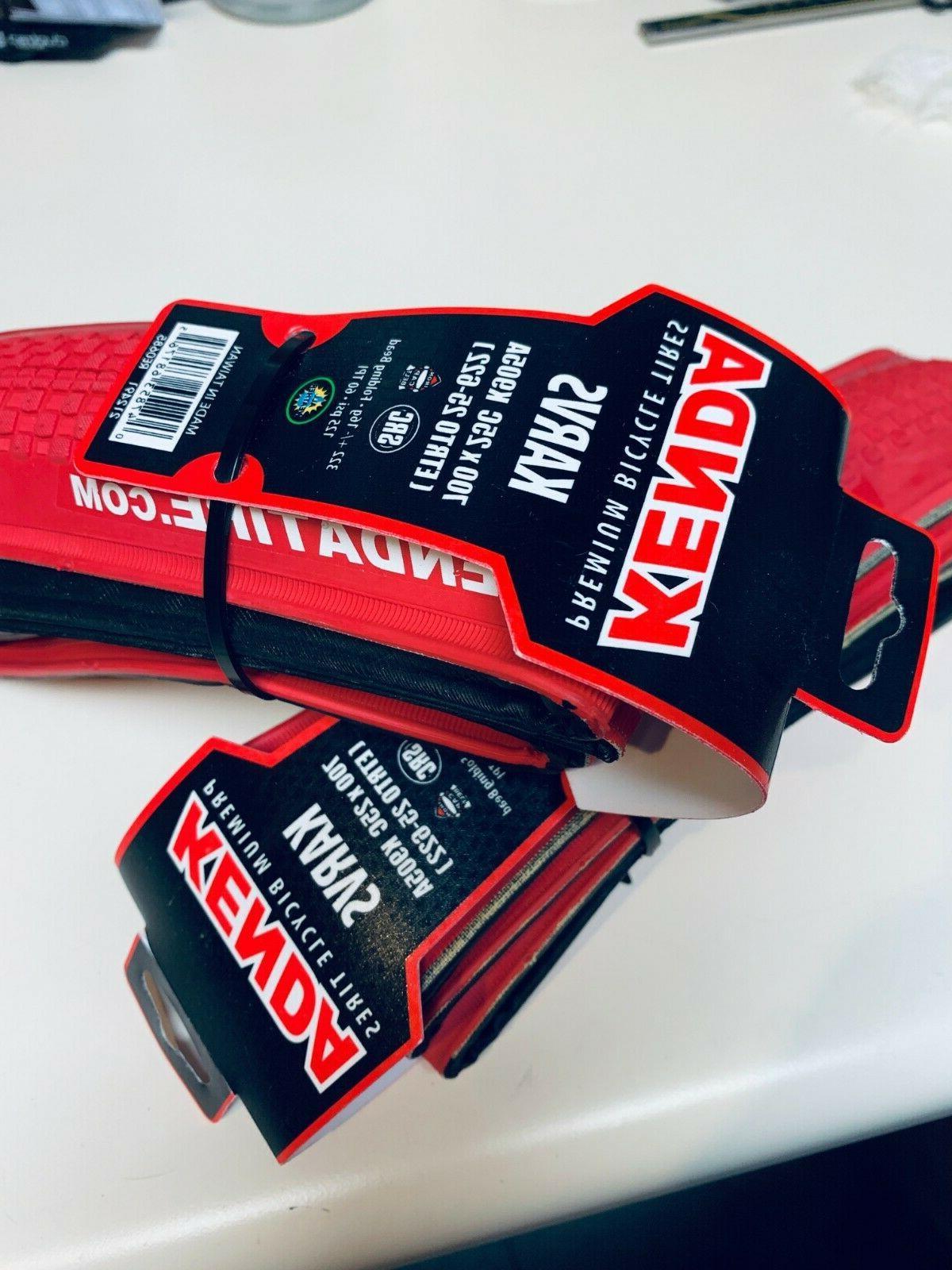 Kenda Karvs 700x23c Folding Road/Gravel Bike Tire, Red