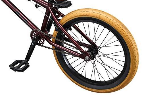 Mongoose Legion L100 Boy's Freestyle Bike, 20-Inch Wheels, Burgundy
