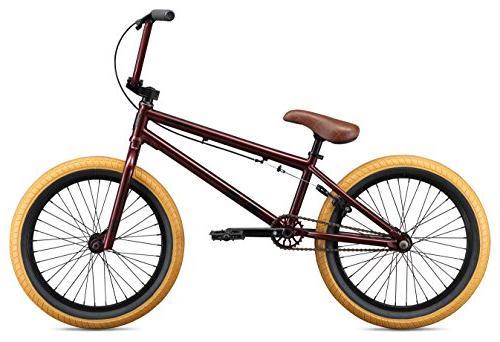 Mongoose Freestyle BMX 20-Inch Wheels, Burgundy