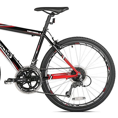"""Giordano Road Bicycles, Black/Red, 24""""/41cm/One Size"""